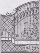 Эскизы Grill Gate Design, Door Gate Design, House Gate Design, Railing Design, Metal Gates, Wrought Iron Doors, Iron Gates Driveway, Moise, Stairs