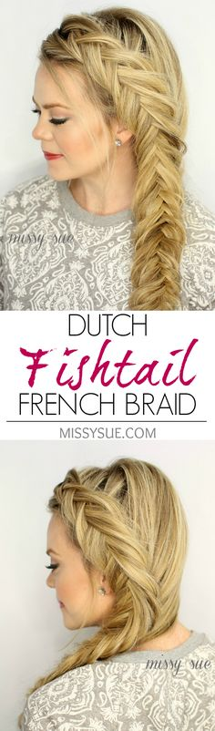 27 Cute Straight Hairstyles: New Season Hair Styles Dutch Fishtail French Braid – Cute Long Hairstyles Braided Hairstyles Tutorials, Pretty Hairstyles, Straight Hairstyles, Hair Tutorials, French Hairstyles, Hairstyles 2018, Easy Hairstyles, Wedding Hairstyles, Fishtail Hairstyles