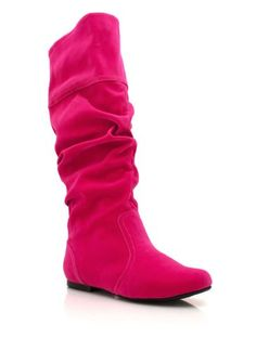 slouchy velvet boots 6 FUCHSIA *** If you love this, read review now : Boots