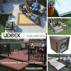 UDECX is a modular, portable and easy to install DIY patio/decking  system that transforms your outdoor living space in hours! #decks #decksandpatios #decksaroundpools #decksandporches
