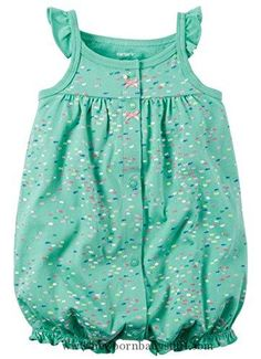 Baby Girl Clothes Carter's Baby Girls' Snap-Up Cotton Romper (3 Months, Turquoise Fish)