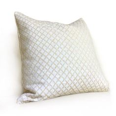 16X26 Pillow Insert Glamorous Designer Light Blue Cream Geometric Star Lattice Pillow Cover Design Inspiration
