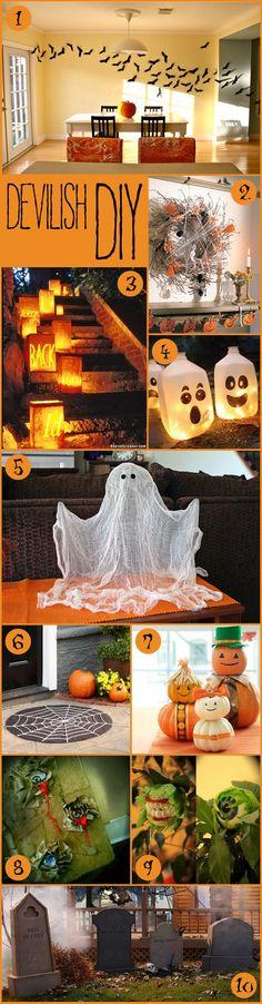 Devilish DIY for Halloween decorations