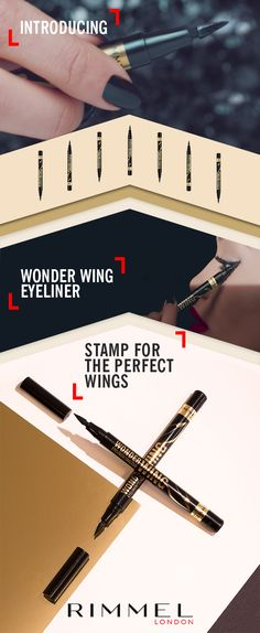 Wing the Look – Complete with New Wonder'fully Real Mascara, Wonder Wing eyeliner and Magnif'eyes Nude edition palette for perfect wings and bold drama. Shop the look today at Rimmellondon.com