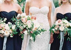 A bride and her maids.