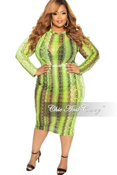 54eb934f0b1a Final Sale Plus Size 2-Piece Long Sleeve Mesh Bodysuit and Matching Pe –  Chic