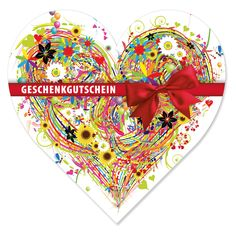 Herz-Gutschein U452 Mother's Day, Things To Do, Heart