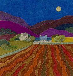 """Ploughed Field"" - Harris Tweed needle felted paintings, giclee prints & greetings cards by Jane Jackson. www.brightseedtextiles.com"