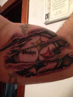 kinda gross but really cool Pittsburgh Steelers Logo, Steelers Football, Steelers Stuff, Cute Tattoos, Tatoos, Steelers Tattoos, Ripped Skin Tattoo, Here We Go Steelers, Friendship Tattoos