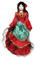 """Russian Porcelain Costume Doll """"Rada"""" Front View"""