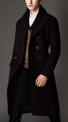 Virgin Wool Military Great Coat | Burberry.  I'd change the color, but the jacket is cool.