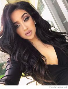 Amazing curly black hair and make-up