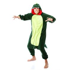 Dinosaur Kigurumi by Sazac (http://k-sazac.co.jp/products_en). Want to make an aww-some statement and be super snuggly while doing it? Nothing will suit you better than a Kigurumi—a full body animal costume whose name comes from a combination of two Japanese words: kiru (to wear) and nuigurumi (stuffed toy). Adorn this adorable outfit at home in place of PJ's, at a cutesy costume party, or at work for a supremely casual Friday. $49 (retail price $59.99)