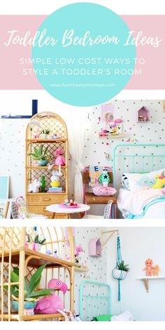 Toddler Bedroom Ideas - simple low cost ways to create a fun, unique bedroom space for girls. More on the blog www.fourcheekymonkeys.com via @4cheekymonkeys