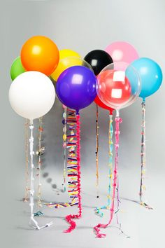 Balloon Garlands - These would be fun to DIY