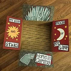 Deployment Care Package- Game of Thrones- My Sun and Stars- Moon of my Life- Iron Throne- Home is Coming