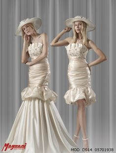Italian wedding dual dress by Magnani.  Visit http://www.dream-weddings-in-italy.com/dream_wedding_in_italy_bridal_dresses_made_in_italy.php  for other italian dresses.