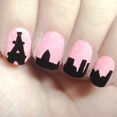 City of love nail art. Really want to try this!