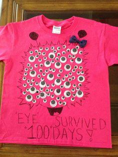 Gabbys 100th day of school shirt!