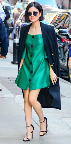 Lucy Hale is making us green with envy.