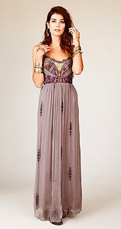 ONE DAY SALE Rare! Free people Artemis maxi dress Beautiful purple embroidered gown from free people! Worn to one prom but in great condition! Tailored to fit my height which is More pictures to come Free People Dresses Prom Pretty Dresses, Beautiful Dresses, Gorgeous Dress, Beautiful Clothes, Dress Outfits, Prom Dresses, Bridesmaid Dresses, Emo Outfits, Dress Prom