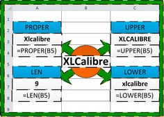 XLCalibre introduces you to four basic Excel text functions - PROPER, UPPER, LOWER and LEN. http://xlcalibre.com/xl-formula-focus-proper-upper-lower-len-or-basic-text-functions/
