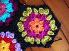 TEJIDOS CROCHET: hexagonos crochet