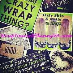 We aren't just wraps!!! We have a whole line of all natural supplements!! Want to try some today?!?!!? Call me!