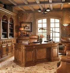 Astounding 33 Stylish And Dramatic Masculine Home Office Design Ideas : Astounding 33 Stylish And Dramatic Masculine Home Office Design Ideas With Brown Wall Chandelier Table Brown Chair Sofa Pillow Carpet And Glass Door