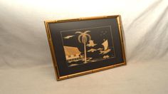 Vintage Hand Crafted Bamboo Art, Pacific Tropical Island on Etsy, $38.00