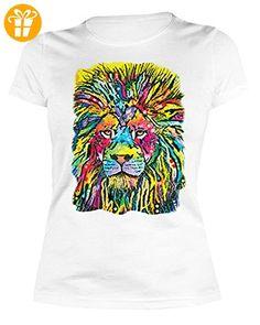 Lady Shirt Neon Löwe Shirt 4 Heroines Damen T-Shirt Geburtstag Geschenk geil bedruckt (*Partner-Link)