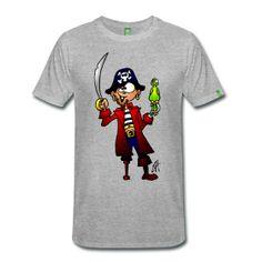 Pirate T-shirts. #Spreashirt #Cardvibes #Tekenaartje