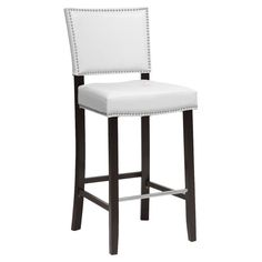 The Wholesale Interiors Aries designer bar stool looks right at home next to a contemporary kitchen counter or contemporary bar. Bring this beauty home and you will enjoy sleek faux leather, a solid rub Wood Bar Stools, Swivel Bar Stools, Bar Chairs, Counter Stools, Island Stools, Ikea Chairs, Bar Counter, Upholstered Chairs, Dining Chairs