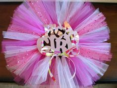 """Baby Shower Decorations For Girls   Baby Shower Decoration Tutu Wreath - Pink """"It's a Girl"""" Wreath and ..."""