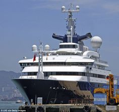 Microsoft founder Paul Allen's superyacht Octopus (pictured) was once the world's largest yacht, measuring 126m in length