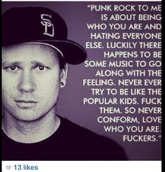 #TomDeLonge This dude and his band got me through high school, I swear.