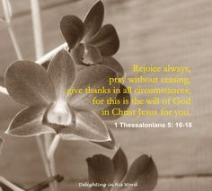 The purpose of Paul's letter to new converts in Thessalonica was to encourage them in the midst of trials, opposition and persecution, and to give assurance concerning the future of believers in Christ. The same encouragement is available to us today, so let us rejoice, pray and give thanks!