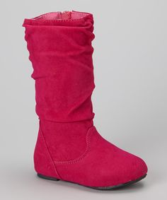 Look at this Ositos Shoes Fuchsia Delta Boot on #zulily today!