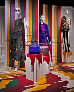 """SAKS FIFTH AVENUE, New York, """"I can change the world with color"""", Fall/Autumn for Victoria Beckham, pinned by Ton van der Veer"""