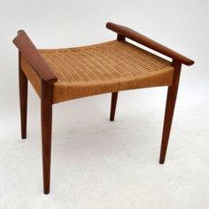 Danish retro vintage stool for sale london mogens kold | retrospectiveinteriors.com