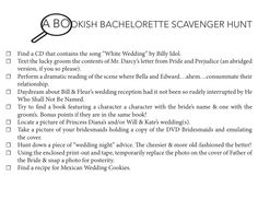 A Bookish Bachelorette Scavenger Hunt