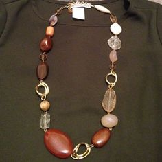 Brown Beads and Crystal Necklace Brown Beads and Crystal Necklace Jewelry Necklaces