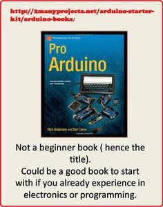 http://2manyprojects.net/arduino-starter-kit/arduino-books/  This book is not for beginners