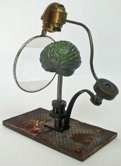 Miniature Steampunk Brain Examination Machine  Artfully Musing: HALLOWEEN VILLAGE MAD SCIENTIST LABORATORY – VIDEO TUTORIAL, NEW COLLAGE SHEET & DIGITAL IMAGE SETS