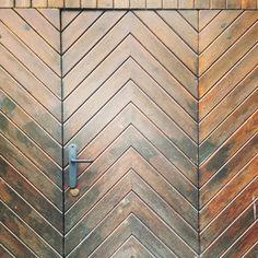 #chevron door