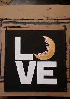Gamma Phi Beta LOVE with Crescent Moon Sorority Artwork 12 x 12 Canvas by RubySongbird13 on Etsy https://www.etsy.com/listing/255714216/gamma-phi-beta-love-with-crescent-moon