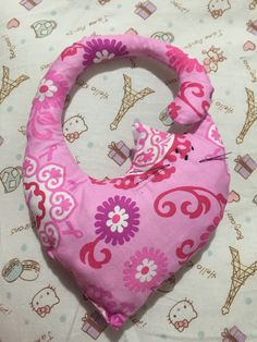 Quilted cat, pink, gato, rosa, valentin, sewing