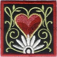 Applique Valentine Machine Embroidery Designs by Embroidery Emotions, via Behance