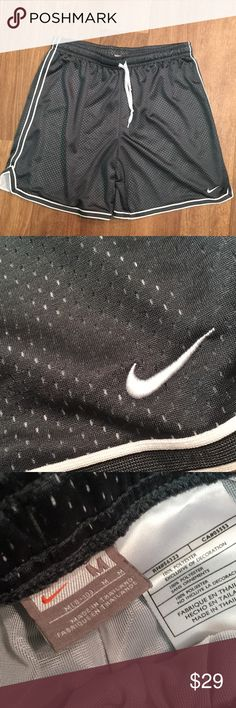 Grey Nike Fit Mesh Shorts Nike polyester basketball shorts in good used condition. Slate grey color. Great for any exercise. Nike Shorts