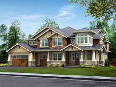 House Plan 87574 | Bungalow Craftsman Luxury Plan with 4084 Sq. Ft., 4 Bedrooms, 4 Bathrooms, 3 Car Garage